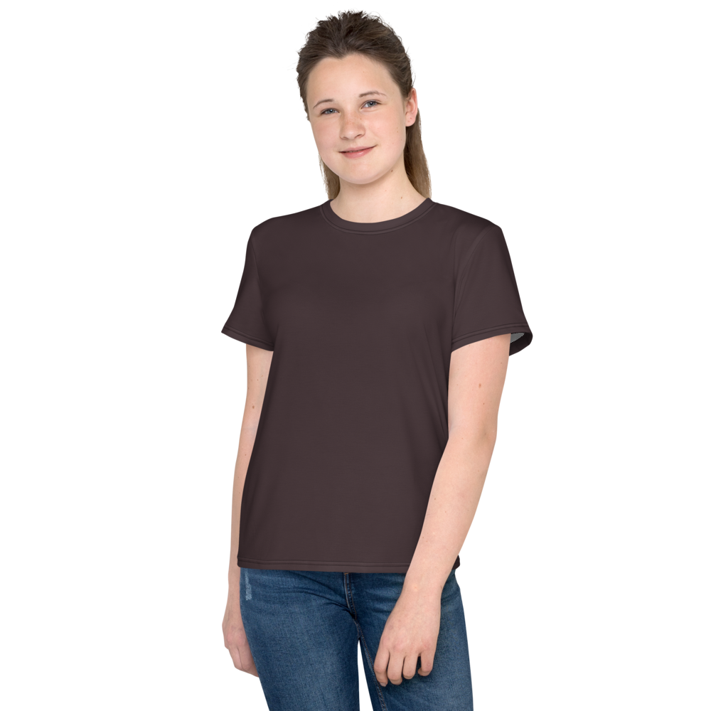 Bordeaux youth girl crew neck t-shirt