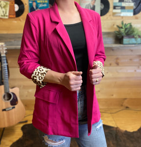 Trixie Blazer-Hot Pink