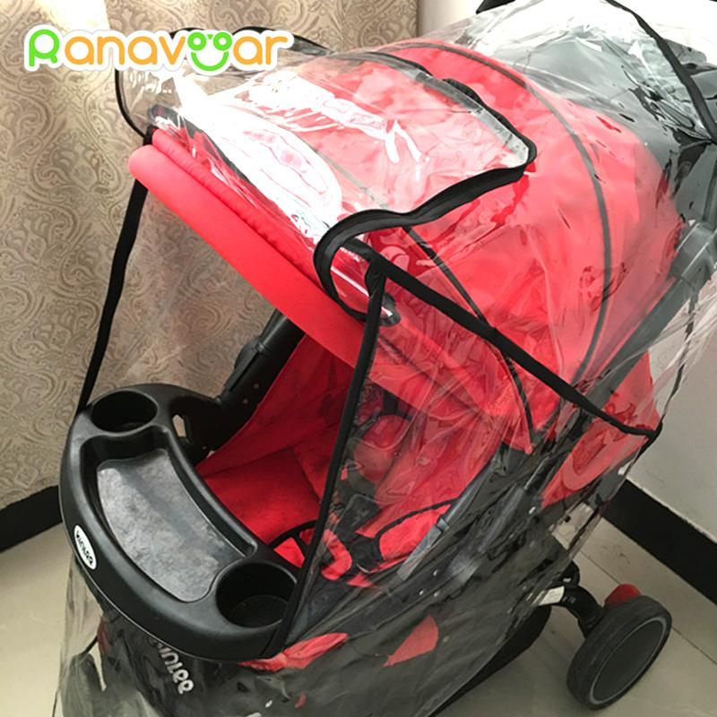 Activity & Gear Baby Stroller Accessories Universal Waterproof Rain Cover Wind Dust Shield Zipper Open For Baby Strollers Pushchairs