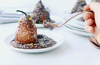 CHOCOLATE GINGER ROASTED PEARS