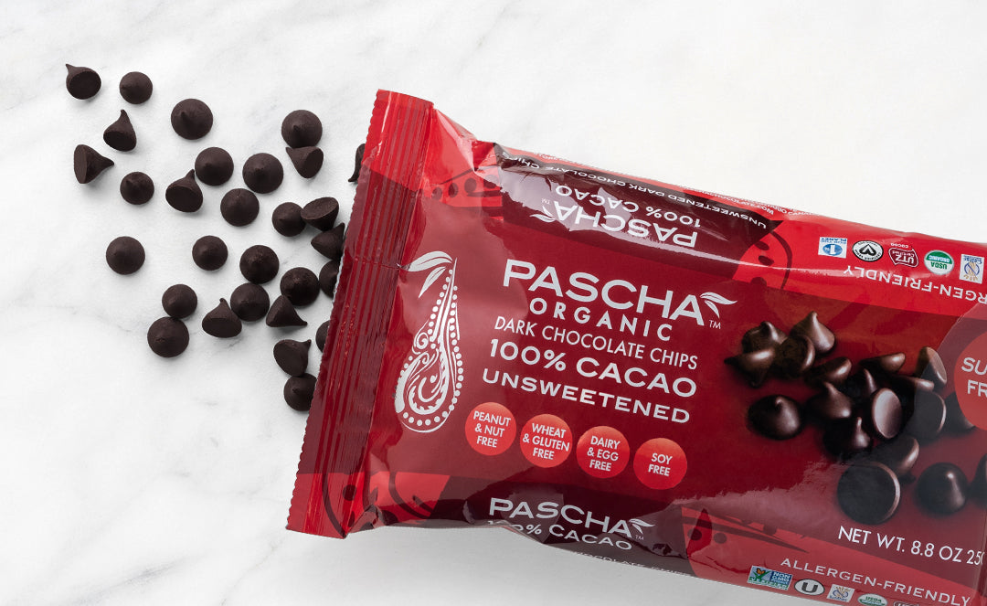 Pascha Unsweetened 100% Cacao Chocolate Baking Chips