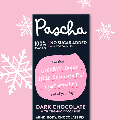 100% Cacao Bar with Cocoa Nibs
