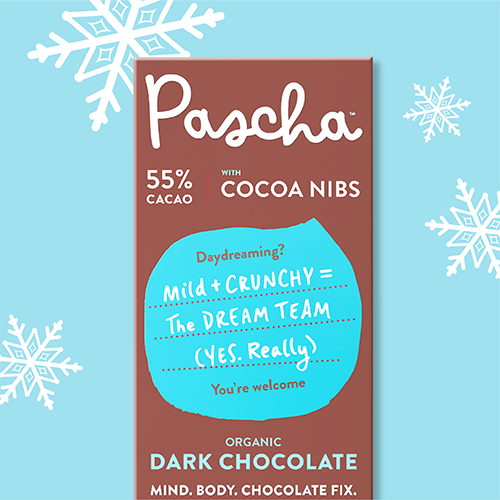 55% Cacao Bar with Cocoa Nibs