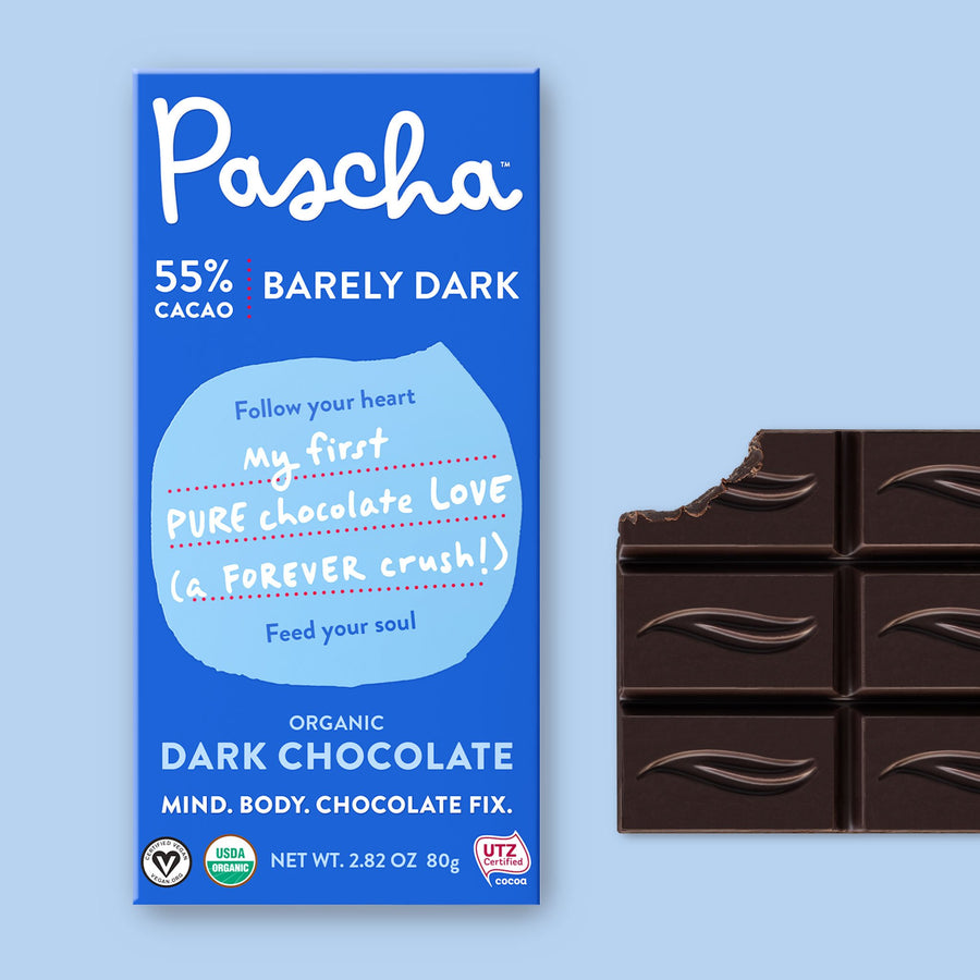 55% Cacao Organic Vegan Dark Chocolate Bar (2.8 oz)