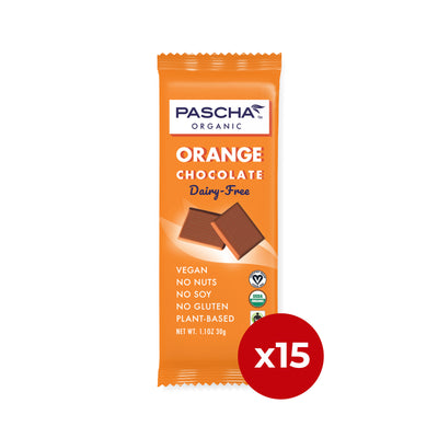 Organic Rice Milk Orange Chocolate - 1.1 oz Bar