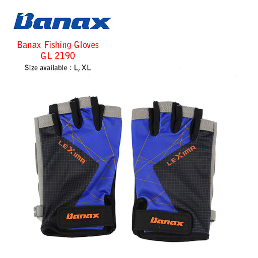 Banax Fishing Glove - GL 2190 Blu (5 cut)