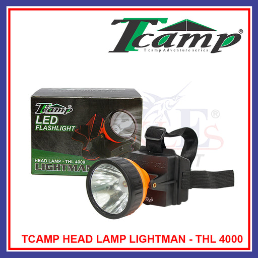Fishing Tcamp LED Head Lamp Lightman / Camping / Hunting (4 X AA batteries) - THL 4000
