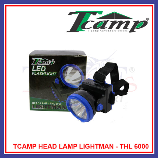 Fishing Tcamp LED Head Lamp Lightman / Camping / Hunting (Rechargeable) - THL 6000