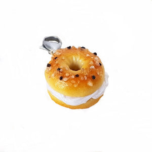 Bagel & Cream Cheese Charm