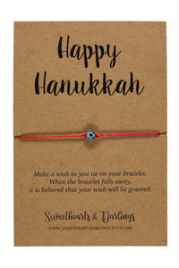 Happy Hanukah Wish String Bracelet