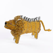 Beaded African Animal Hanukiah