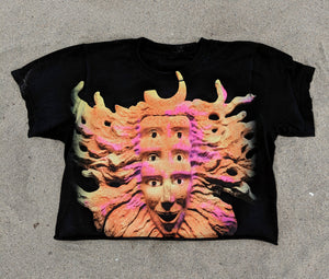Neon Mask Cropped Tee