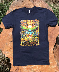 "Red Rocks ""Garden of Unearthly Delights"" Navy Blue T-Shirt"