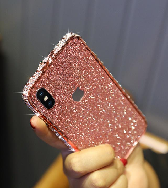 Bling Rhinestone Case For iPhone With Grade A aluminum Frame