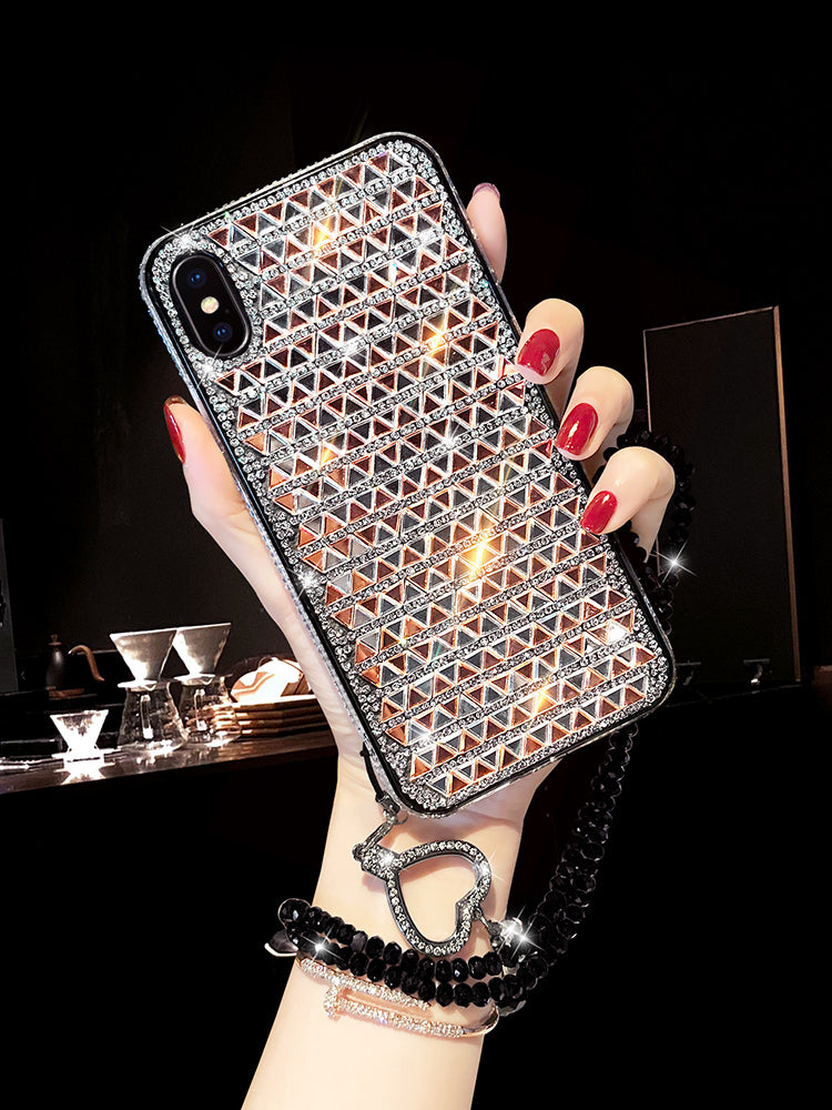 2019 New Bling Triangle Rhinestone Phone Case For All iPhone