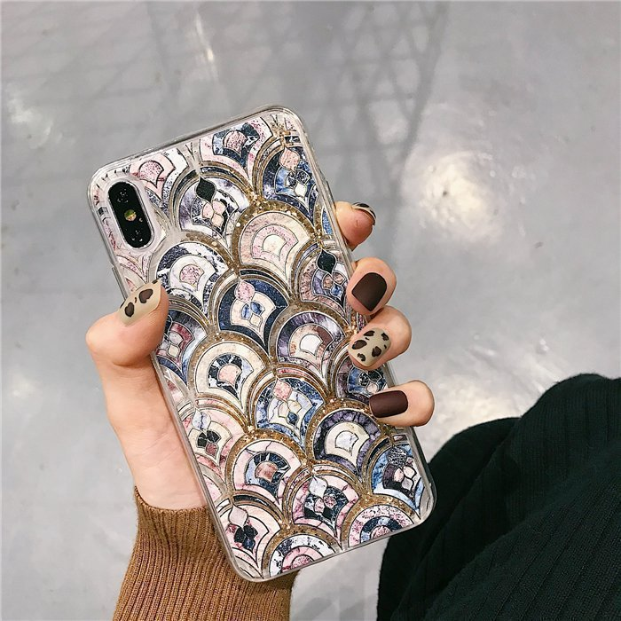 2020 Luxury Fashion Fish-scale Quicksand Phone Case For iPhone/Samsung