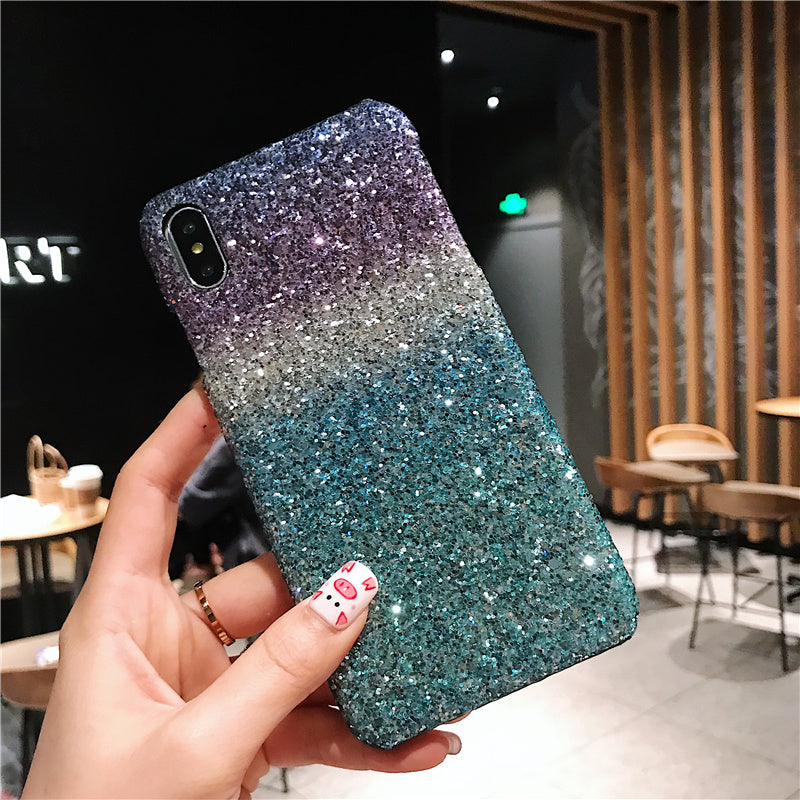 Gradually flashing powder case for iphone