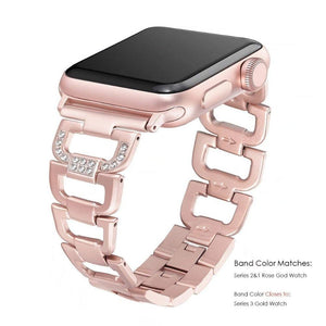 Diamond Stainless Steel Wristband Compatible Band For Apple Watch  4,3,2,1