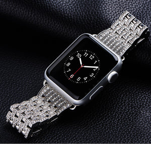Diamond Luxury Stainless Steel Bracelet Replacement Compatible iWatch Series 5/4/3/2/1