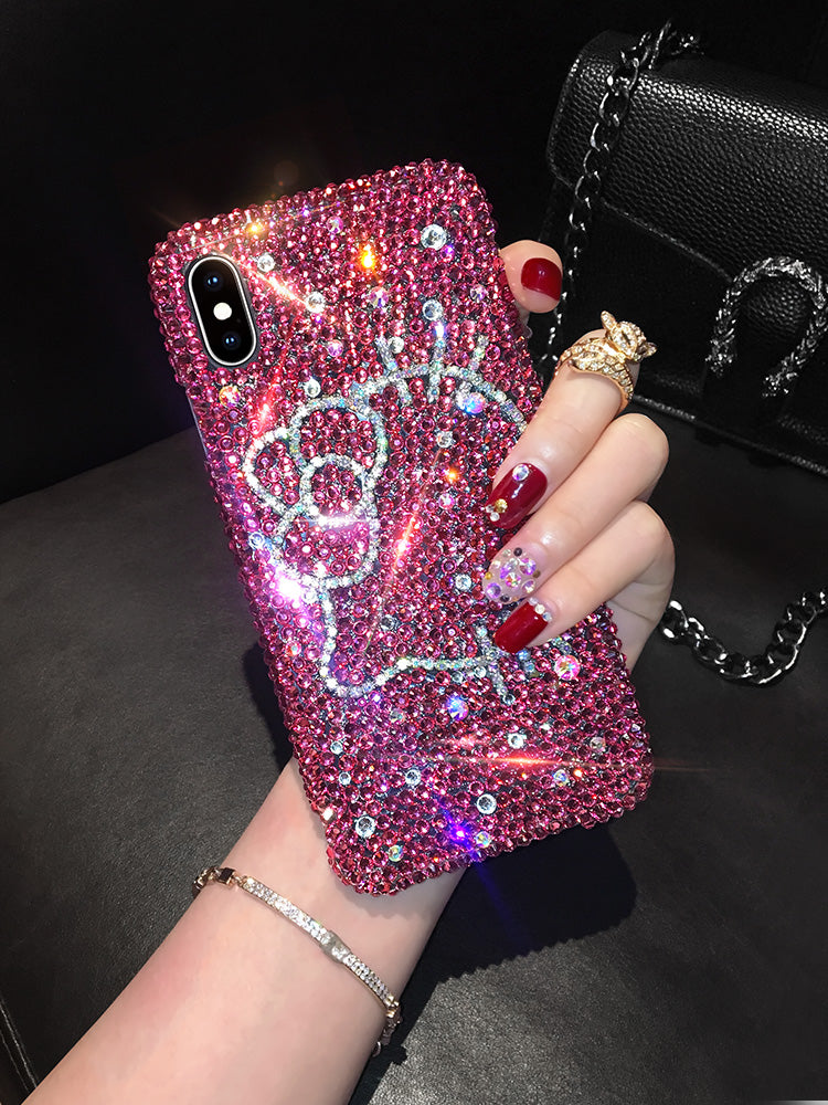 2019 New Bling -Shaped Crystal Luxury Diamond Cat iPhone Case