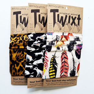 Animal print do rags - AntiCraft wired headwraps are your bad hair day solution!