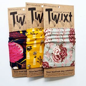 THe floral collection of Anticraft do rags - wired head wraps featuring flowers and plants - your bad hair day solution!