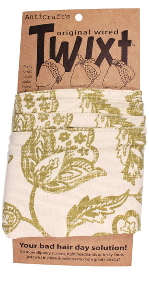 Gold Antique Floral - Twixt / Wired Head Wrap