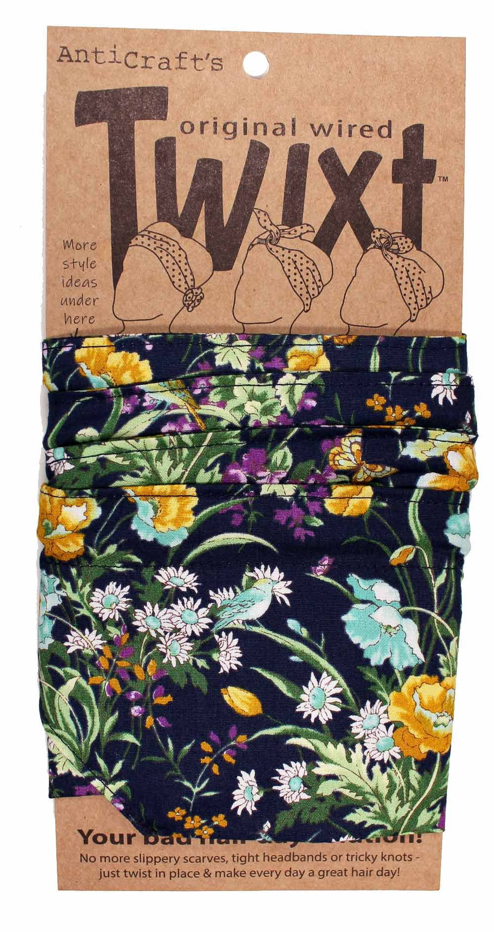 Meadow Flowers on Navy - Twixt / Wired Head Wrap
