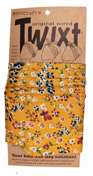 Meadow Flowers on Mustard - Twixt / Wired Head Wrap