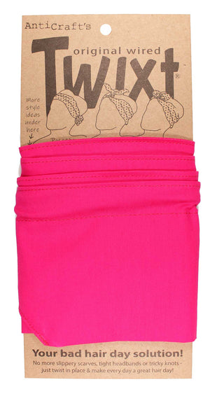 Plain Bright Pink - Twixt / Wired Head Wrap