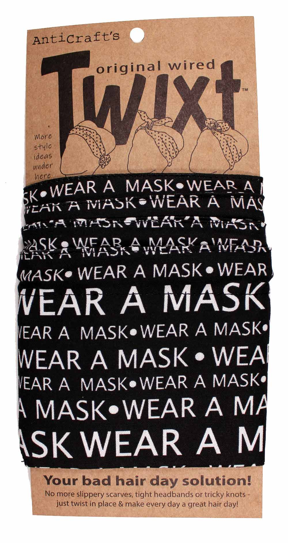 Celebrating 2020 - Wear A Mask - Very Limited Corona Virus Edition Twixt / Wired Head Wrap