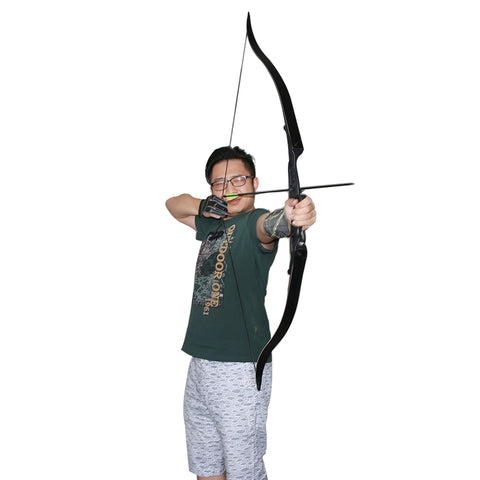 40lbs Traditional Archery Supplies Detachable Combination Recurve Bow Hunting Bow Slingshot Right Hand For Shooting Training