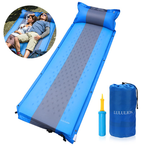 Portable Inflating Sleeping Pad Compact Lightweight Camping Sponge