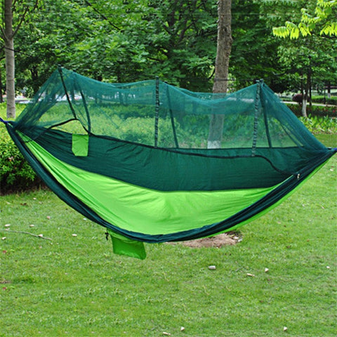 2 Person Travel Outdoor Camping Tent Ultralight Hanging Hammock Bed With Mosquito Net Portable Parachute Cloth Hammock
