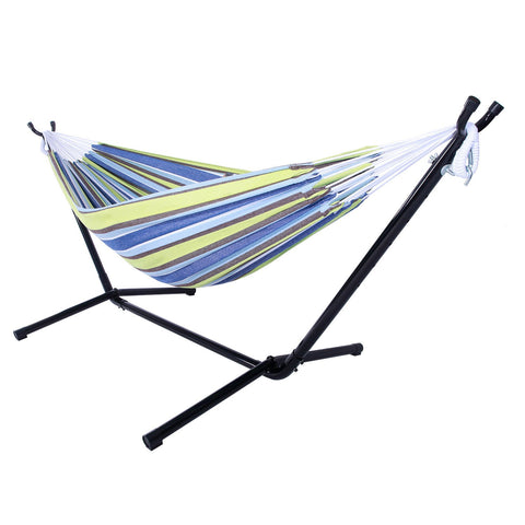Portable Hammock Stand with Polyester Hammock for Outdoor Hiking Camping