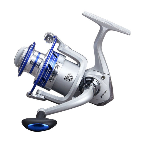 12 BB Fishing Reel Left/Right Interchangeable Collapsible Handle Fishing Spinning Reel Ultra Light Smooth Rock Fishing Reel