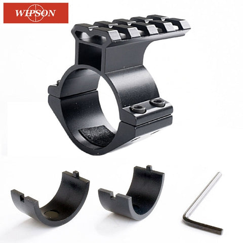 "WIPSON 1pc Rifle Scope Mount Barrel 1""/ 25.4mm 30mm Ring Adapter w/ 20mm Scope Weaver Picatinny Rail Mount with Insert caza"