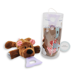 4 In 1 Teething Toy and Detachable Pacifier Holder, Bear - nissi-jireh