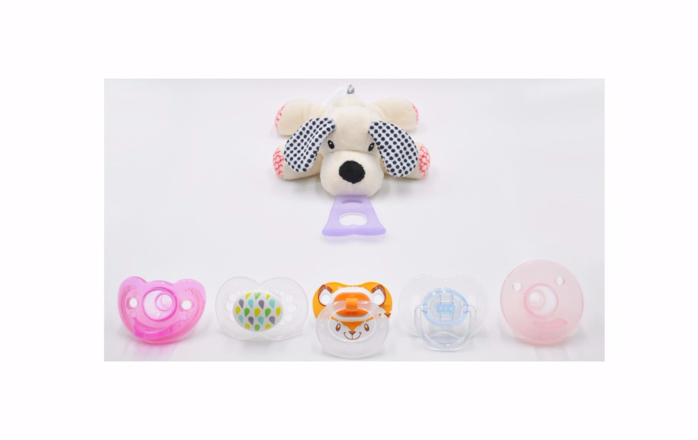 4 In 1 Teething Toy and Detachable Pacifier Holder, Dog - nissi-jireh