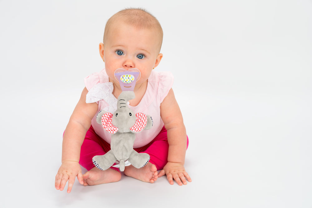 4 In 1 Teething Toy and Detachable Pacifier Holder, Elephant - nissi-jireh