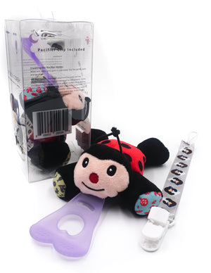 5 In 1 Teething Toy and Detachable Pacifier holder, Lady bug - nissi-jireh