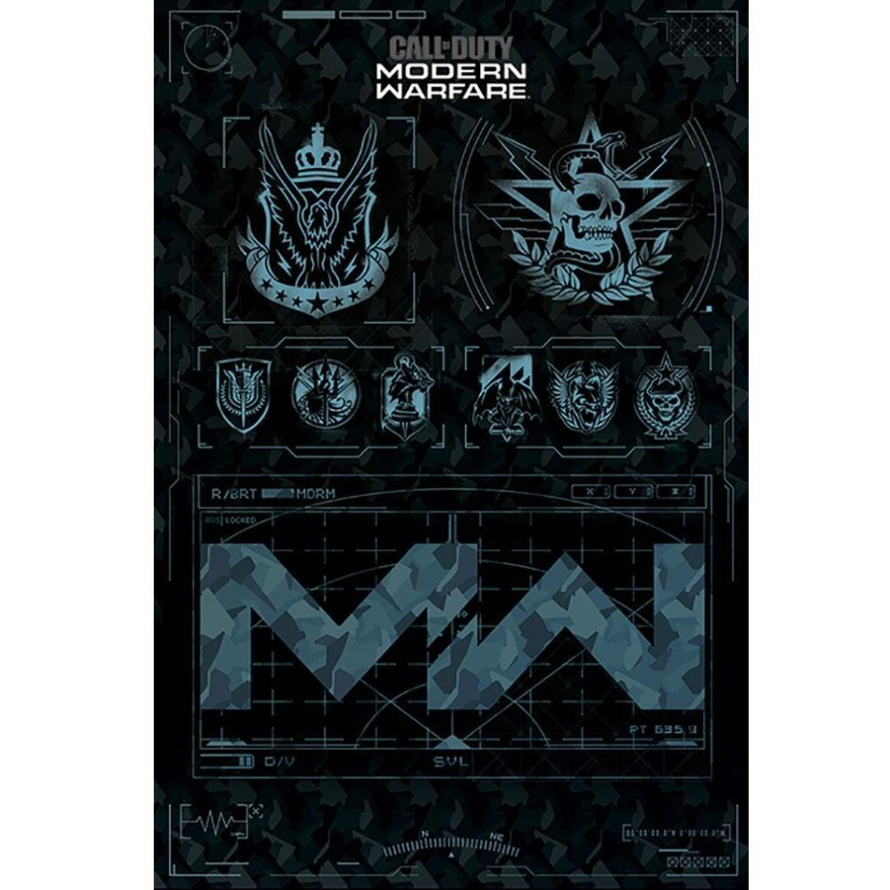 Call of Duty: Modern Warfare - Fractions Poster (Multicolour)