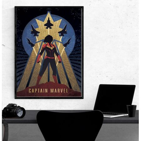Captain Marvel (Deco) Poster