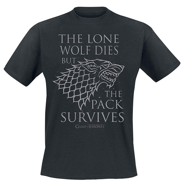 Game of Thrones - The Lone Wolf majica crna