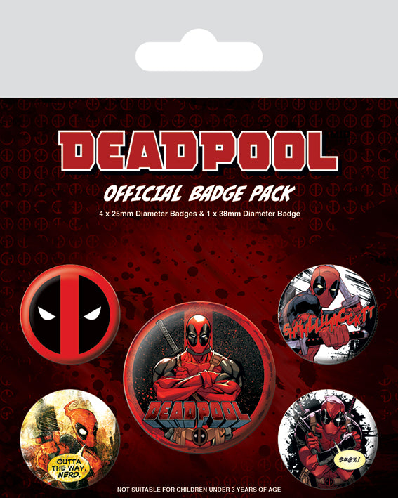 Marvel - Deadpool set bedževa