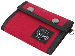 Deadpool Red trifold wallet