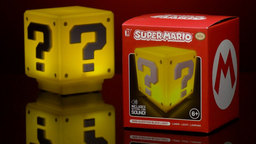 Super Mario Mini Question Block Light - lampa