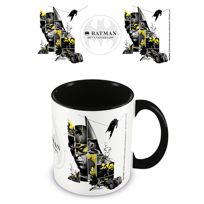 Batman (80th Anniversary) Black Coloured Inner Mug