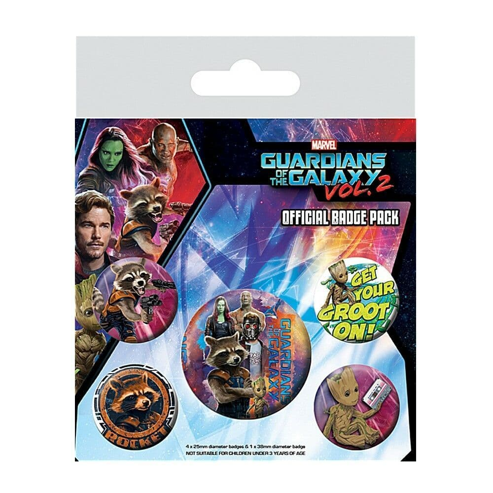 Marvel - Guardians of the Galaxy Vol. 2 Rocket & Groot Badge Pack