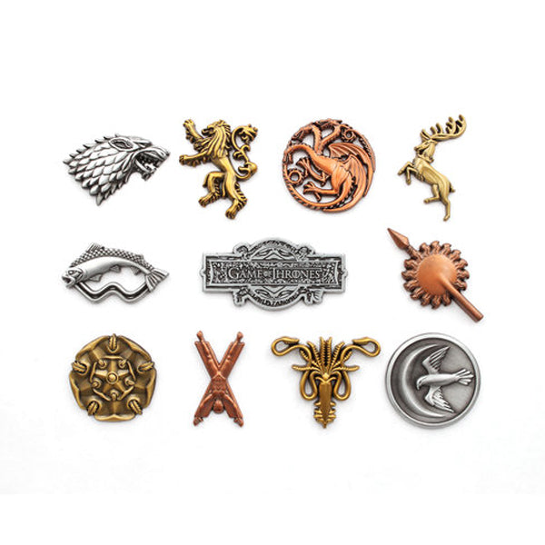 Game of Thrones - House Pin Badges Collectors Tin - 11 Pcs